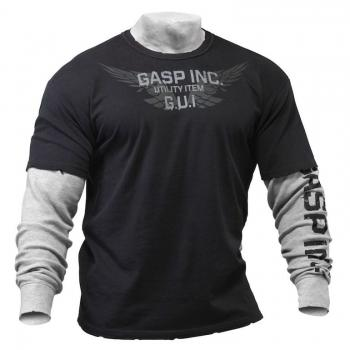 GASP Army l/S 2 In, Black/Grey